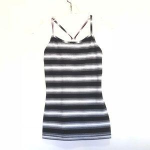 Ivivva Black Stripe Y Tank Top Size 14